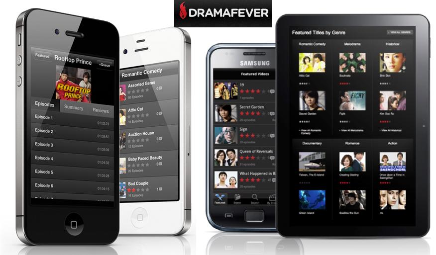 PC는 물론 아이폰, 안드로이드, 구글TV, Roku 등을 통해 한국드라마를 시청할 수 있게 해주는 Dramafever의 서비스