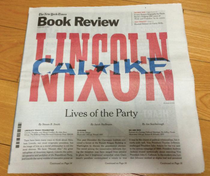매주 일요일에 발간되는 뉴욕타임즈북리뷰. 26페이지. 1896년에 시작되어 117년의 역사. 매주 배달되어 오는 750~1천권의 책중에서 20~30권을 선택해 리뷰한다고.
