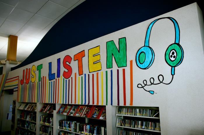 위스콘신의 한 도서관. 미국도서관들은 오디오북을 적극적으로 빌려준다.(사진출처:Flickr)