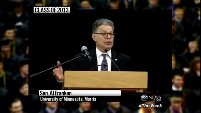 전직 SNL 코미디언이자 현직 상원의원인 Al Franken.