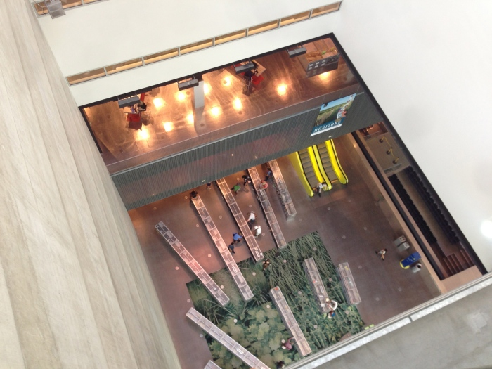 10층에서 내려다본 3층의 모습