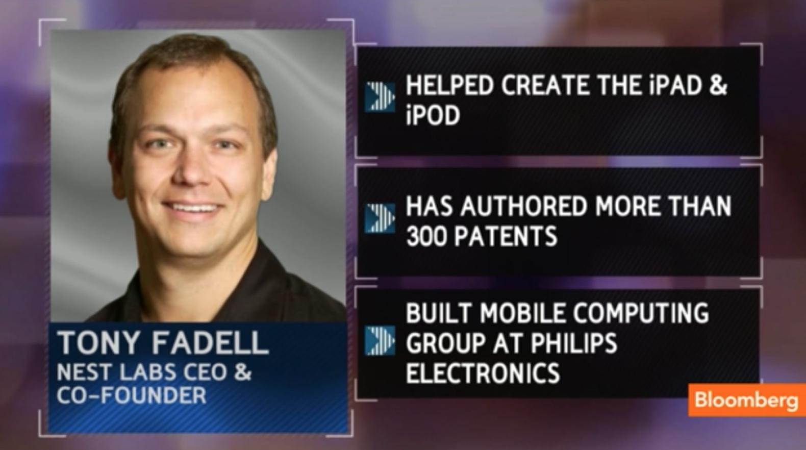 네스트의 창업자 토니 파델 (출처 Bloomberg TV)