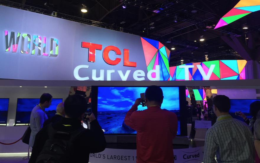 중국의 TV메이커 TCL의 부스도 2년전에 비교해 더욱 세련된 모습이었다.