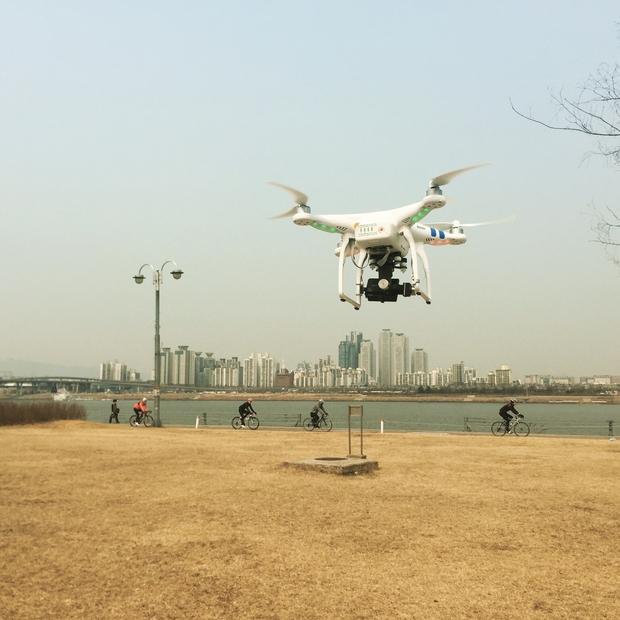 한강시민공원에서 날려본 DJI 팬텀 2.