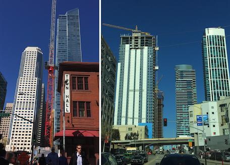 여기저기 새로운 고층빌딩들이 쭉쭉 올라가고 있는 샌프란시스코시내를 보며 역시 건설붐인 중국도시들의 모습이 연상됐다.