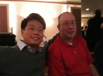 HR매니저 존과 찍은 사진.