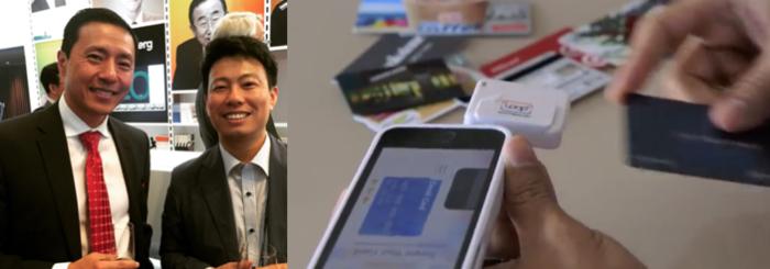 올 5월의 아시아리더십컨퍼런스에서 만난 루프페이 윌 그레일린 CEO. 루프페이의 초기모델은 스마트폰에 동글을 끼우고 카드정보를 입력해 쓰는 것이었다. (사진출처 루프페이)