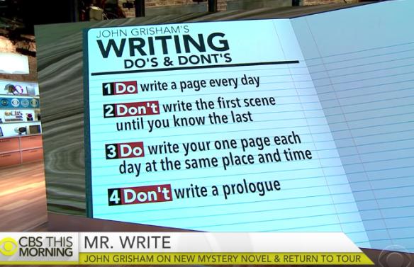 존 그리샴의 글쓰기 팁